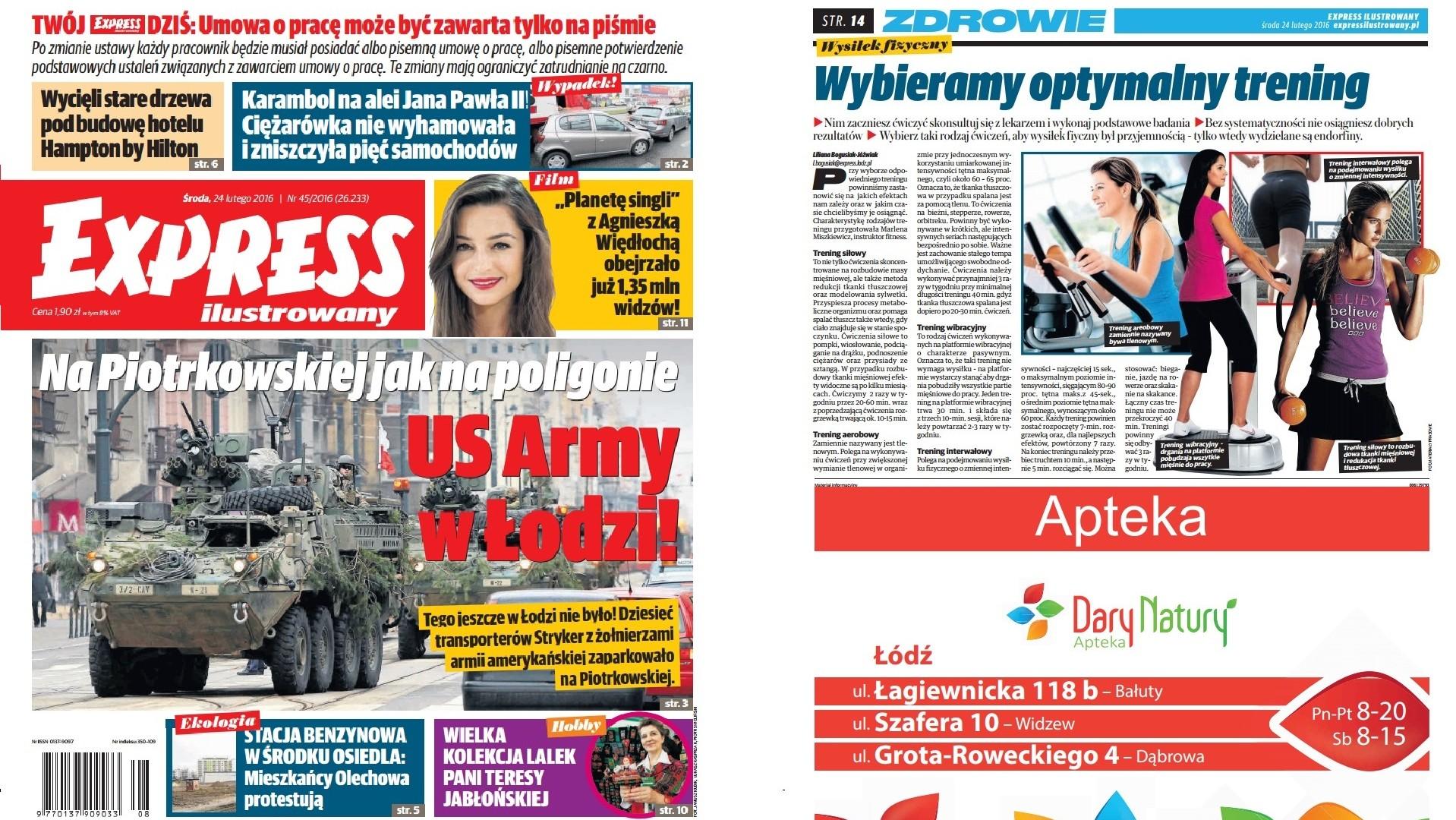 Wydanie Expressu z naszą reklamą